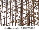 Steel Scaffolding On White...