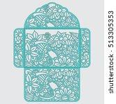die cut envelope template...   Shutterstock .eps vector #513305353