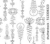 unalome   lotus sacred simbols...   Shutterstock .eps vector #513308323
