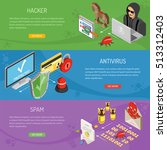 internet security horizontal... | Shutterstock .eps vector #513312403