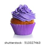 fresh tasty cupcake isolated on ... | Shutterstock . vector #513327463