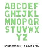 english alphabet on a blurry... | Shutterstock . vector #513351787