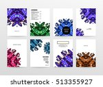 annual report brochure template ... | Shutterstock .eps vector #513355927