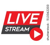 Live Stream Red Vector Design...