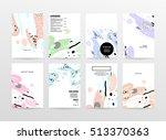 annual report brochure template ... | Shutterstock .eps vector #513370363