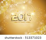 happy new year greeting card ... | Shutterstock .eps vector #513371023