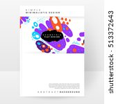 annual report brochure template ... | Shutterstock .eps vector #513372643