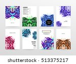 annual report brochure template ... | Shutterstock .eps vector #513375217