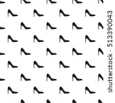 high heel shoe pattern. simple... | Shutterstock .eps vector #513390043
