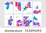 annual report brochure template ... | Shutterstock .eps vector #513394393
