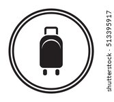 baggage icon vector. flat... | Shutterstock .eps vector #513395917
