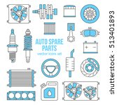 set of auto spare parts. car... | Shutterstock .eps vector #513401893