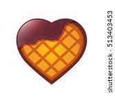heart shape waffle  | Shutterstock .eps vector #513403453
