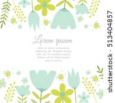 template card with spring... | Shutterstock .eps vector #513404857