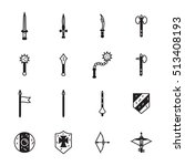 medieval weapons icon set.... | Shutterstock .eps vector #513408193