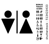 wc persons icon and bonus man... | Shutterstock .eps vector #513423433