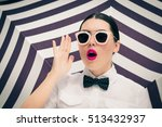 fashion portrait of a stylish... | Shutterstock . vector #513432937