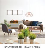 modern living room sofa and... | Shutterstock . vector #513447583