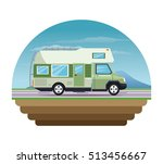 campervan vehicle and... | Shutterstock .eps vector #513456667
