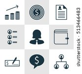 set of human resources icons on ... | Shutterstock .eps vector #513466483