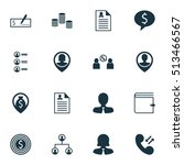 set of management icons on... | Shutterstock .eps vector #513466567