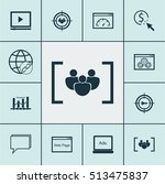 set of marketing icons on video ... | Shutterstock .eps vector #513475837