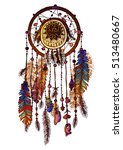 native american indian dream... | Shutterstock .eps vector #513480667