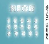 realistic neon character... | Shutterstock .eps vector #513483007