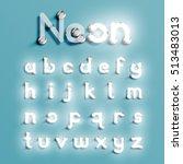 realistic neon character... | Shutterstock .eps vector #513483013