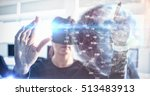 earth globe against... | Shutterstock . vector #513483913