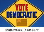 vote democratic with flag | Shutterstock . vector #51351379