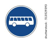 buses only sign  traffic sign | Shutterstock .eps vector #513529393