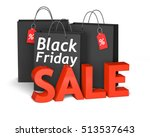 black shopping bags with the...   Shutterstock . vector #513537643