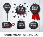 vector set of hand made... | Shutterstock .eps vector #513542227