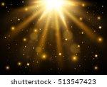 gold lights shining vector...   Shutterstock .eps vector #513547423