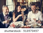 restaurant chilling out classy... | Shutterstock . vector #513573457