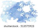 vector watercolor splash... | Shutterstock .eps vector #513575923
