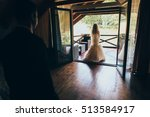 bride on the balcony in the... | Shutterstock . vector #513584917