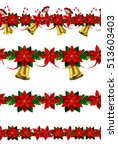 set of seamless christmas... | Shutterstock .eps vector #513603403
