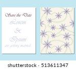 wedding invitation template | Shutterstock .eps vector #513611347
