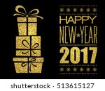 merry christmas typography... | Shutterstock .eps vector #513615127