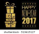merry christmas typography... | Shutterstock .eps vector #513615127