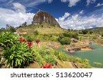 view of the rock el penol near... | Shutterstock . vector #513620047