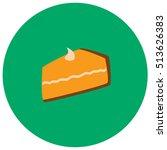 pumpkin pie cute icon in trendy ...