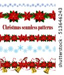 set of  seamless christmas... | Shutterstock .eps vector #513646243
