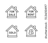 real estate vector icons | Shutterstock .eps vector #513650497