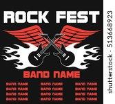 rock festival  rock music... | Shutterstock .eps vector #513668923