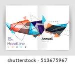 business triangle design modern ... | Shutterstock . vector #513675967