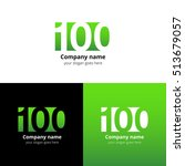 100 logo icon flat and vector... | Shutterstock .eps vector #513679057