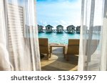 beautiful tropical maldives... | Shutterstock . vector #513679597